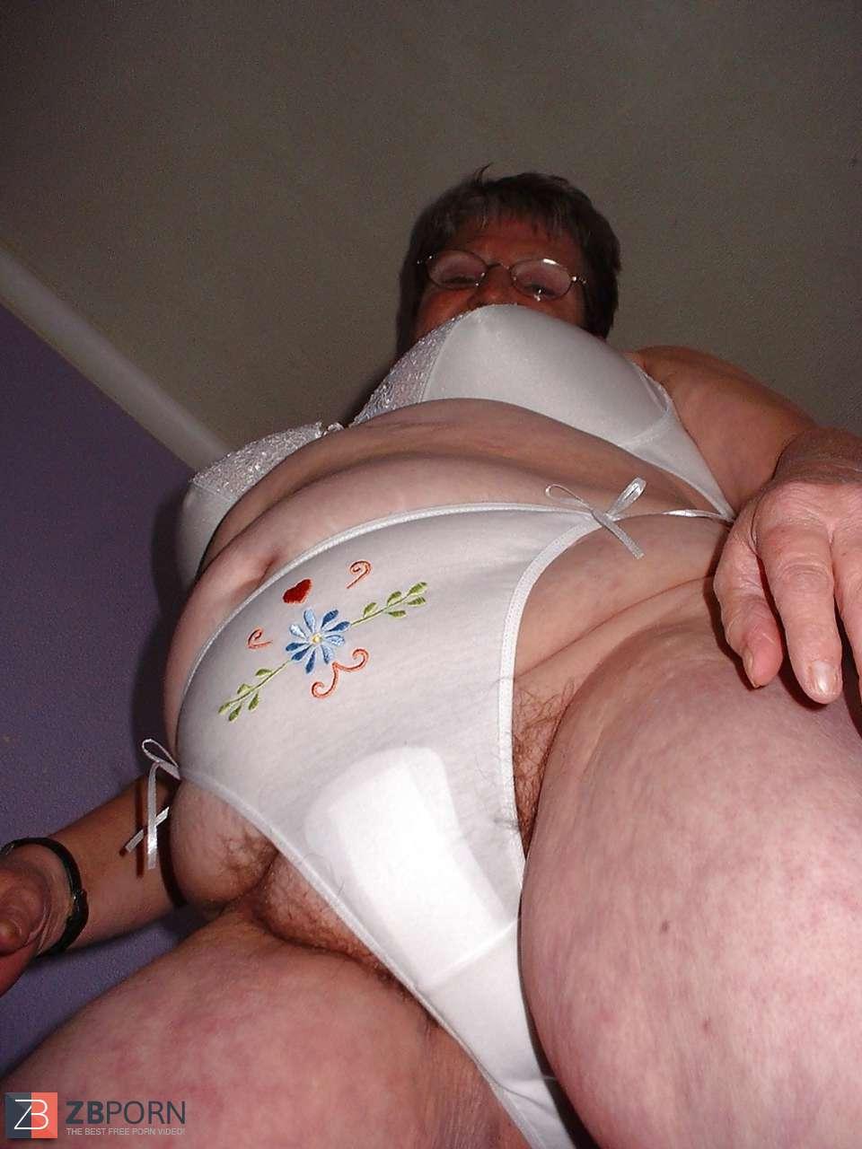 Mature showing panties
