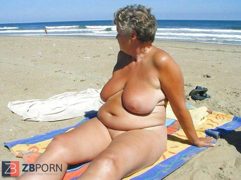Naked grannies on the beach