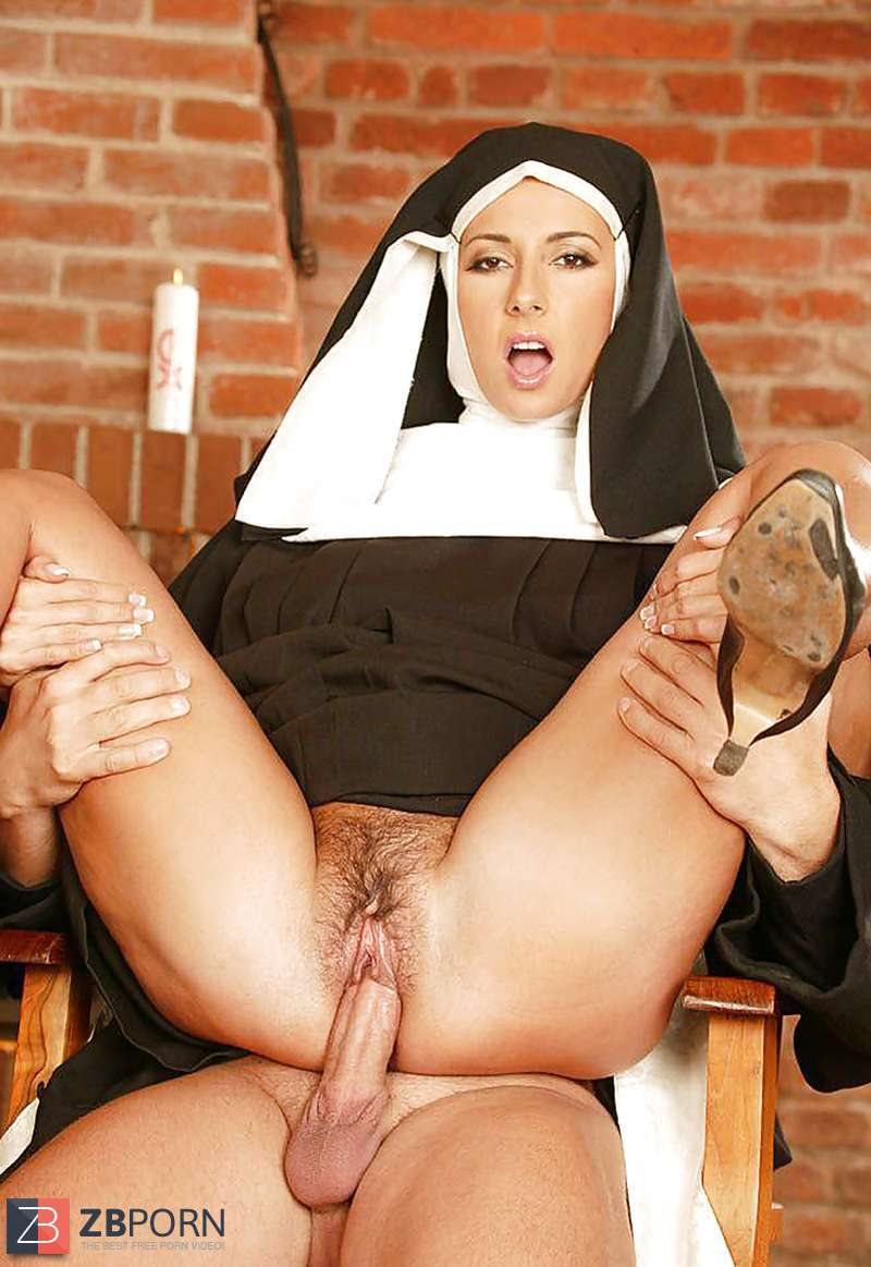 Elouisa strips naked as a sexy nun in bed