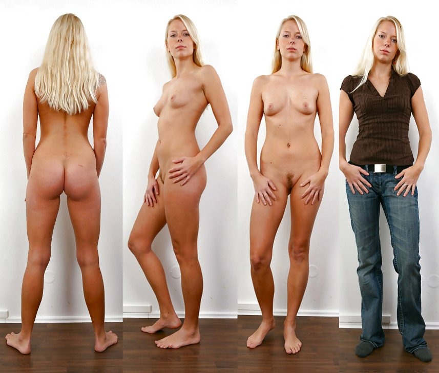 clothed then naked hot girls