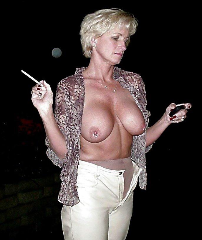 Mature Blonde Huge Tit