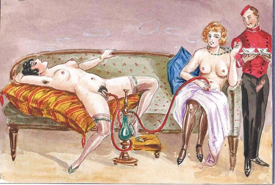 Thematic Drawn Porn Art 27 - German Pornographic Album -3679