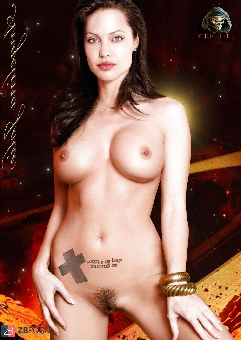 Naked Playboy Angelina Jolie